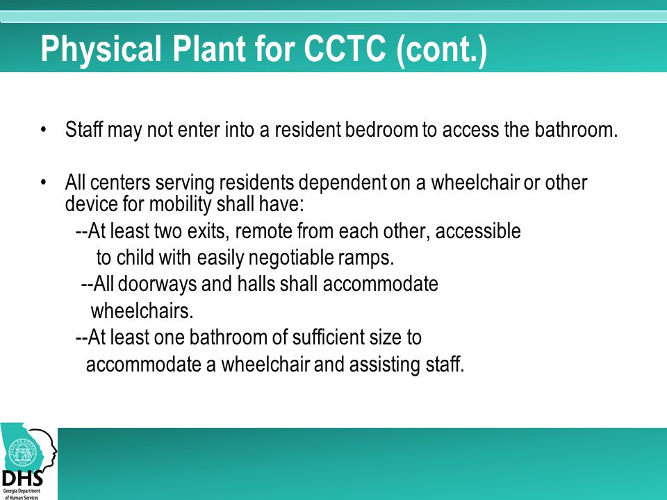 Physical Plant for CCTC (cont.)