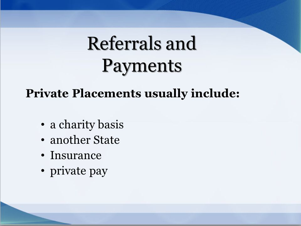 Referrals and Payments
