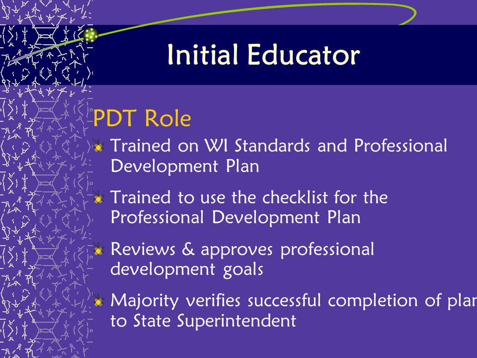 Initial Educator PDT Role