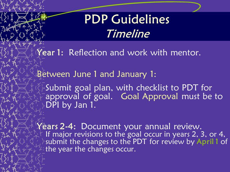 PDP Guidelines Timeline