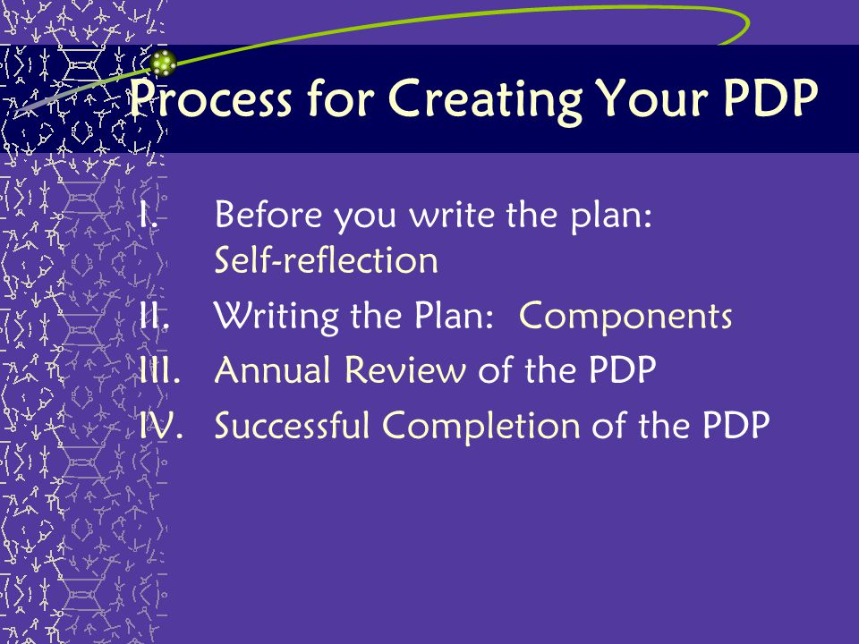 Process for Creating Your PDP