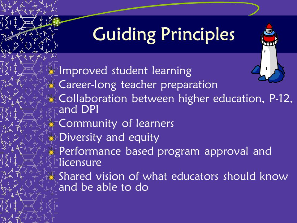 Guiding Principles Improved student learning