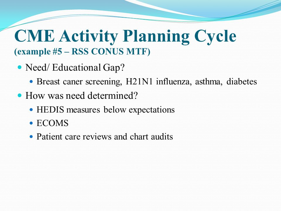CME Activity Planning Cycle (example #5 – RSS CONUS MTF)