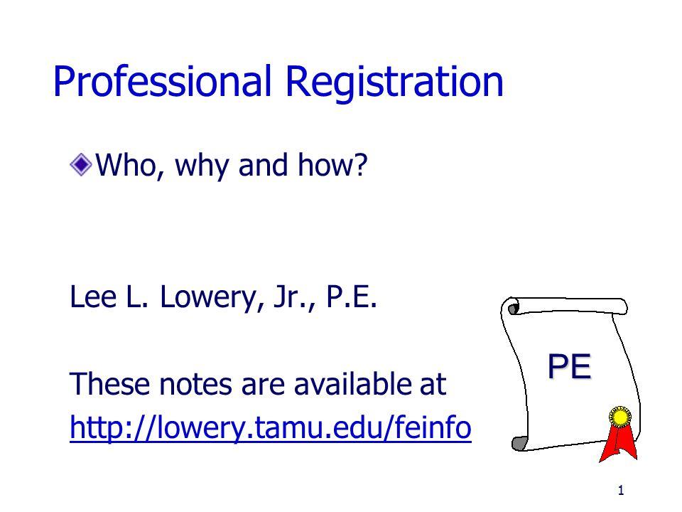 Professional Registration