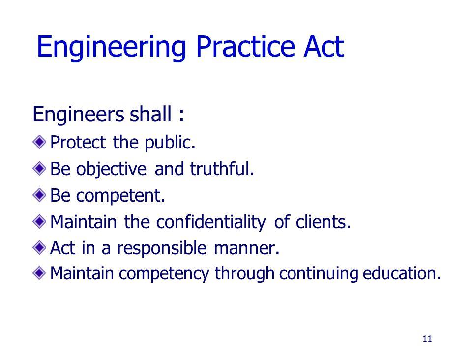 Engineering Practice Act
