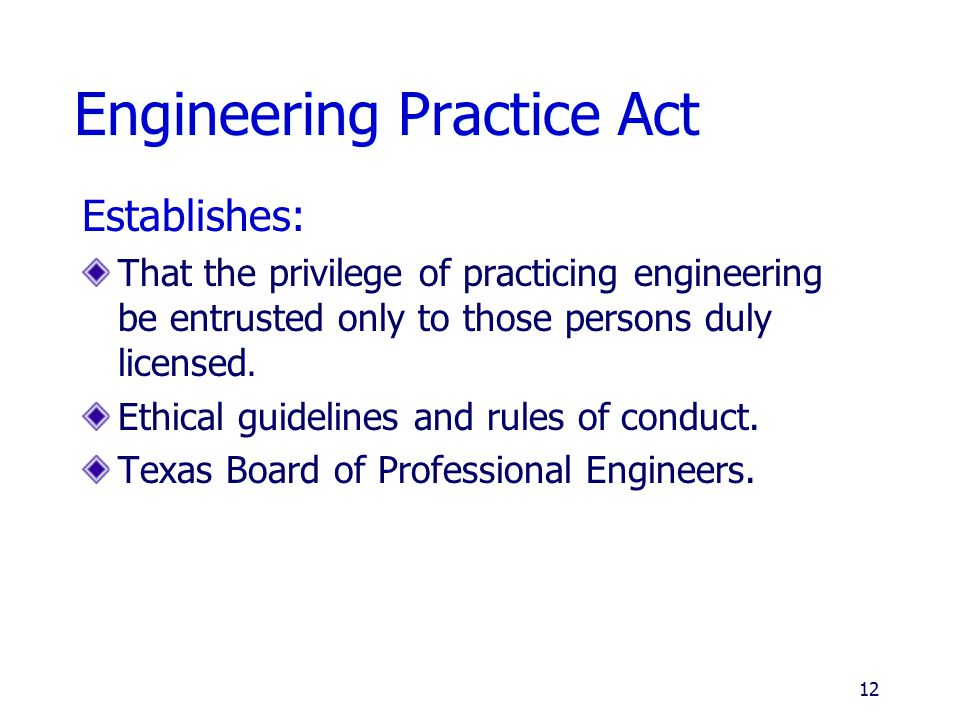Engineering Practice Act