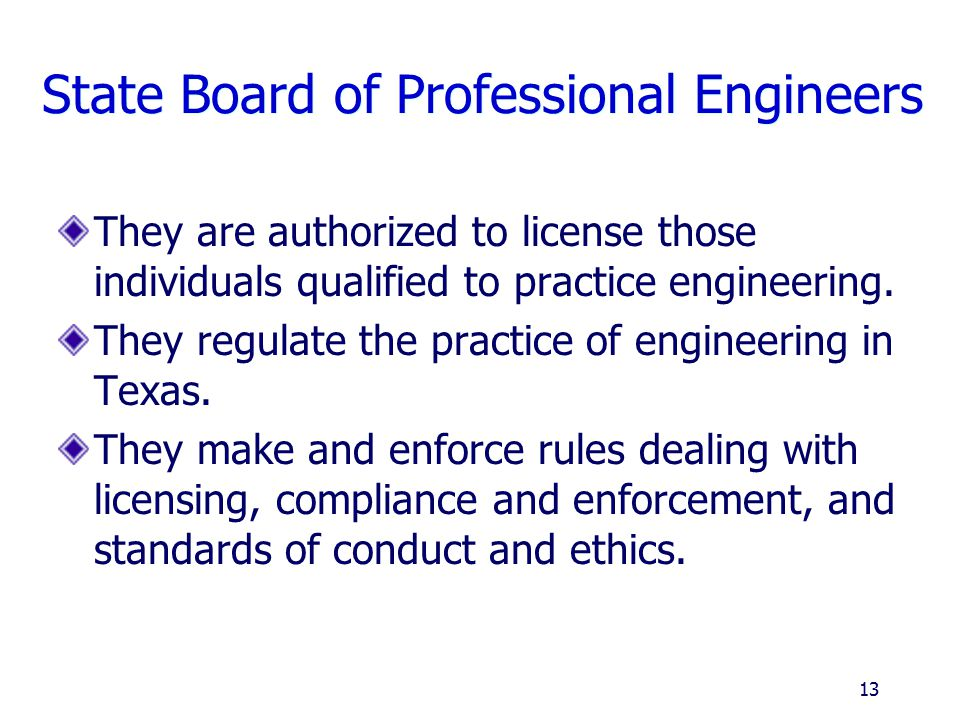State Board of Professional Engineers