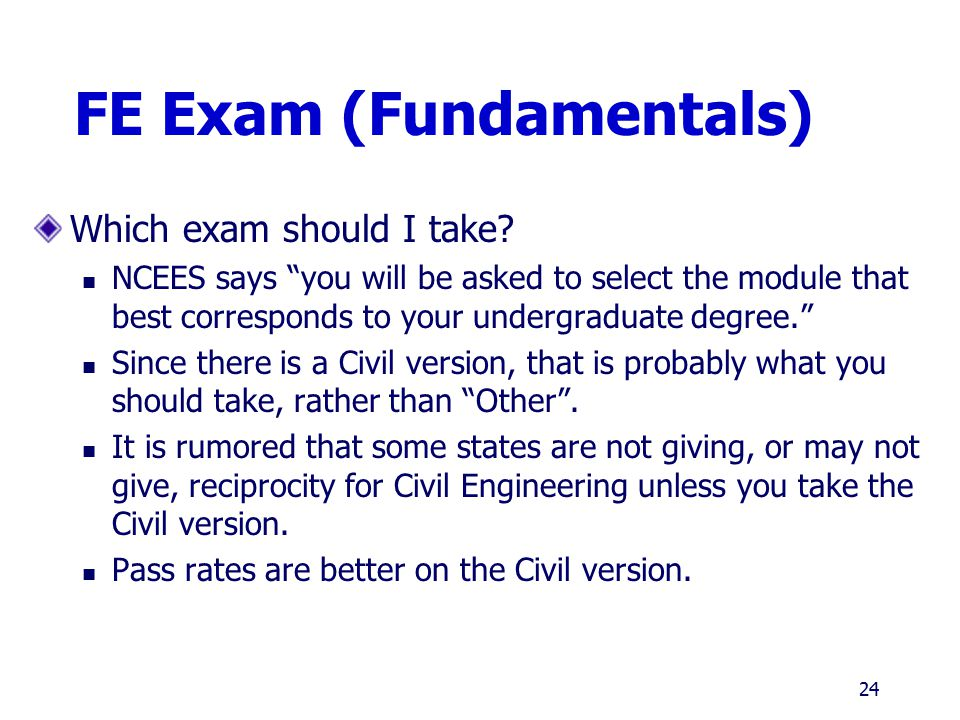 FE Exam (Fundamentals)
