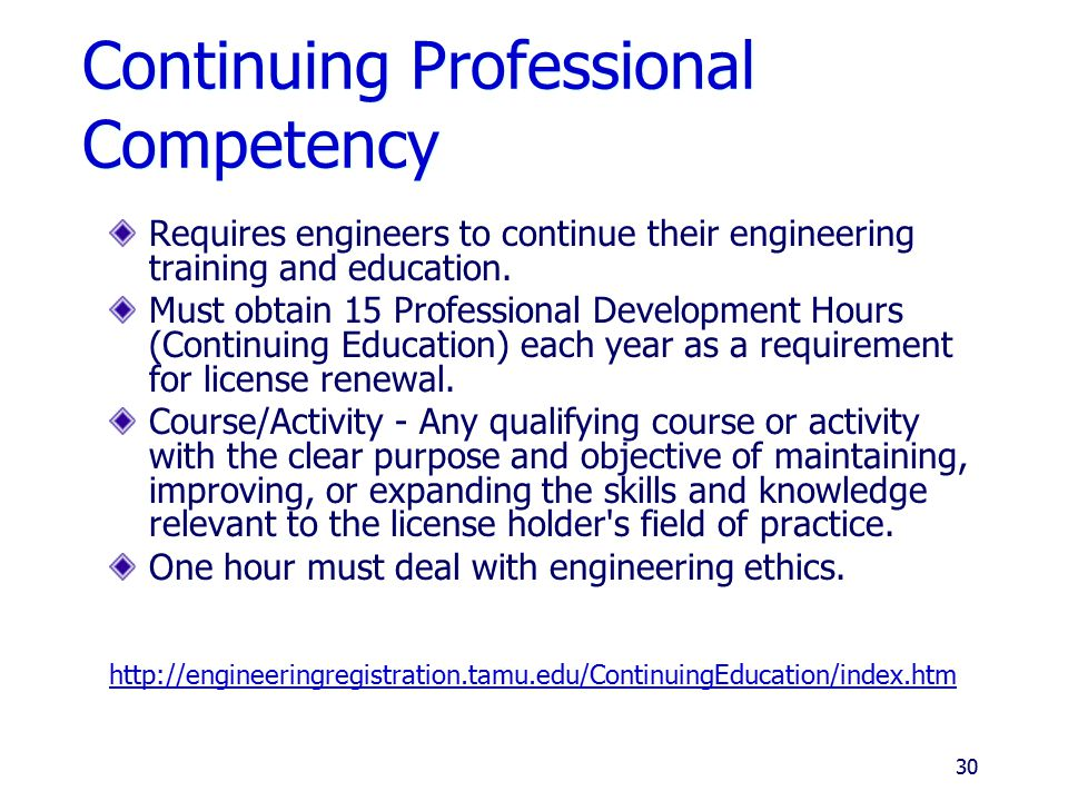 Continuing Professional Competency