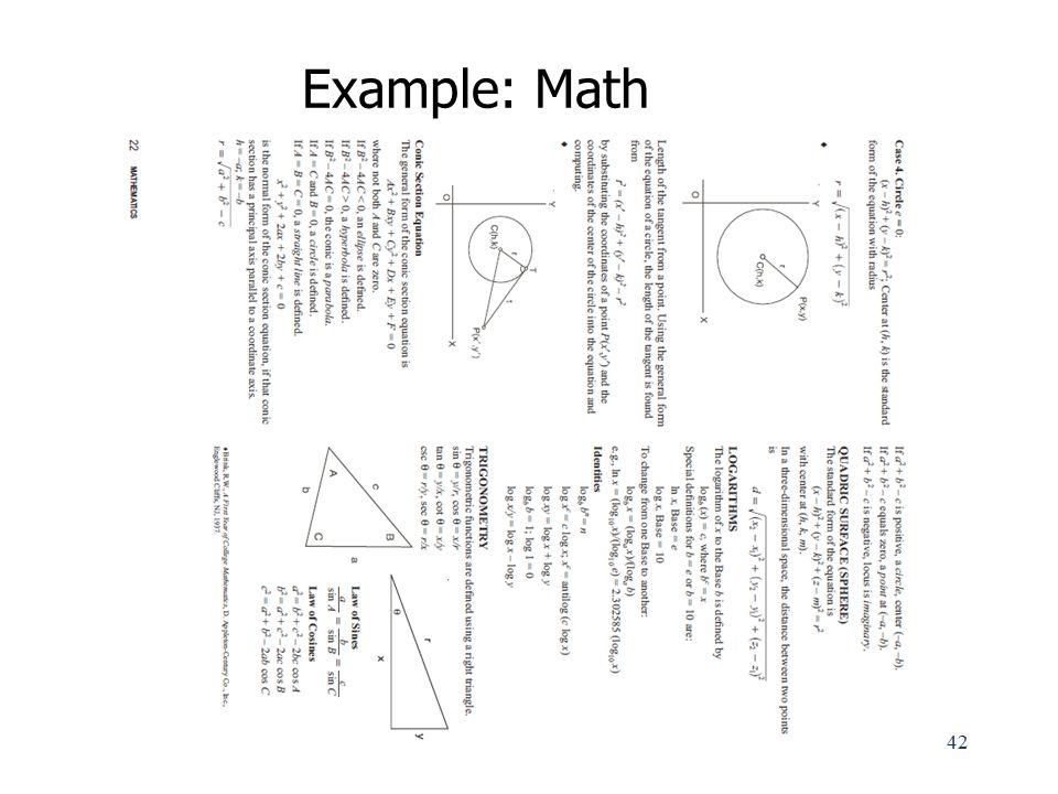 Example: Math