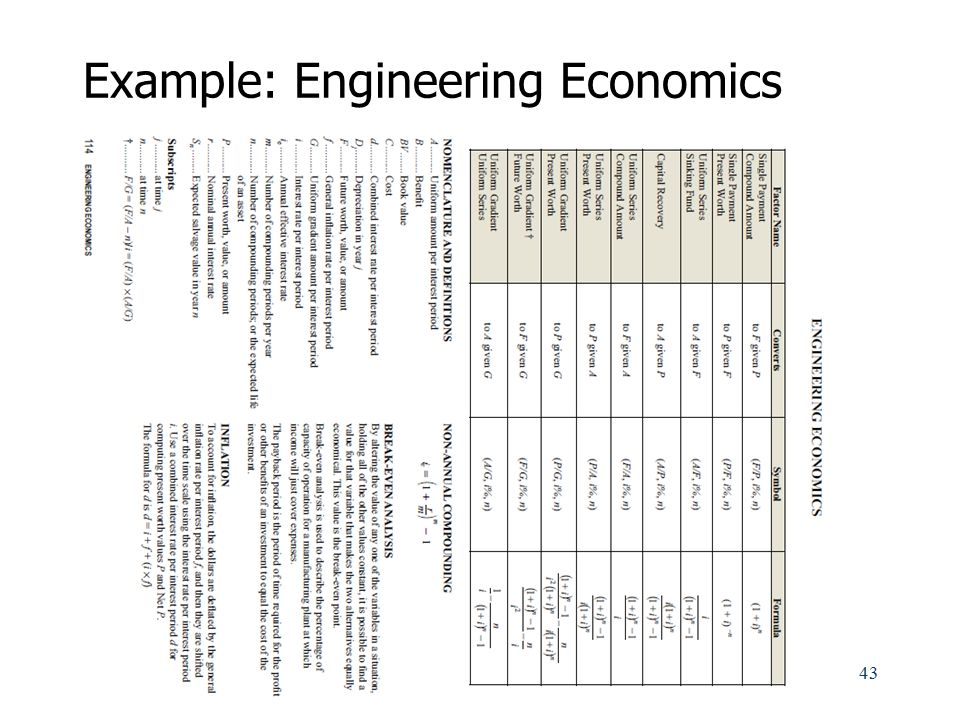 Example: Engineering Economics
