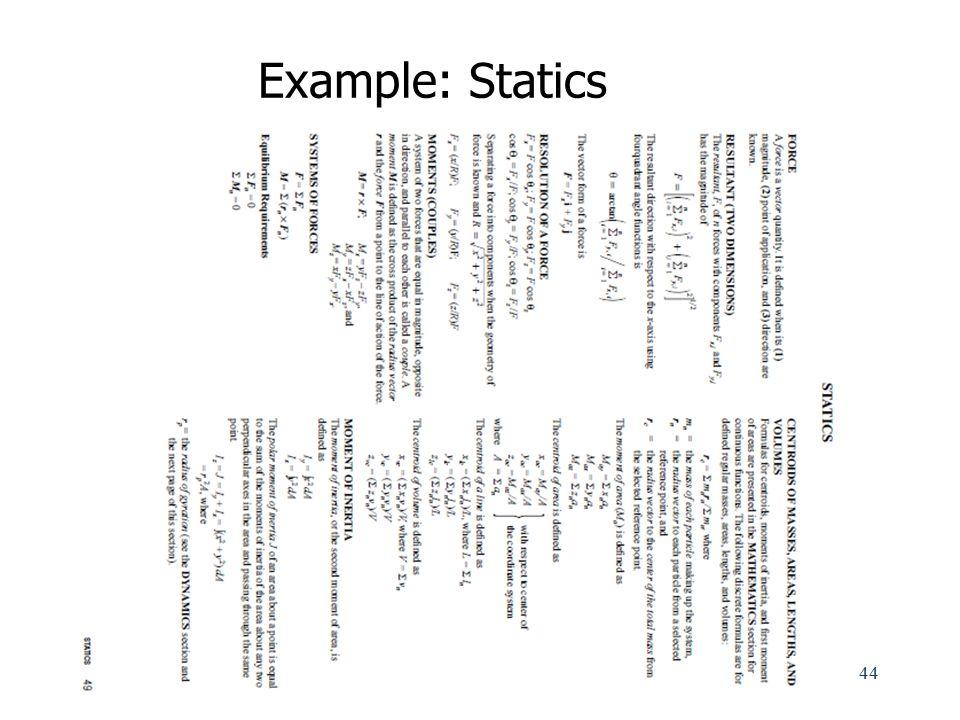 Example: Statics
