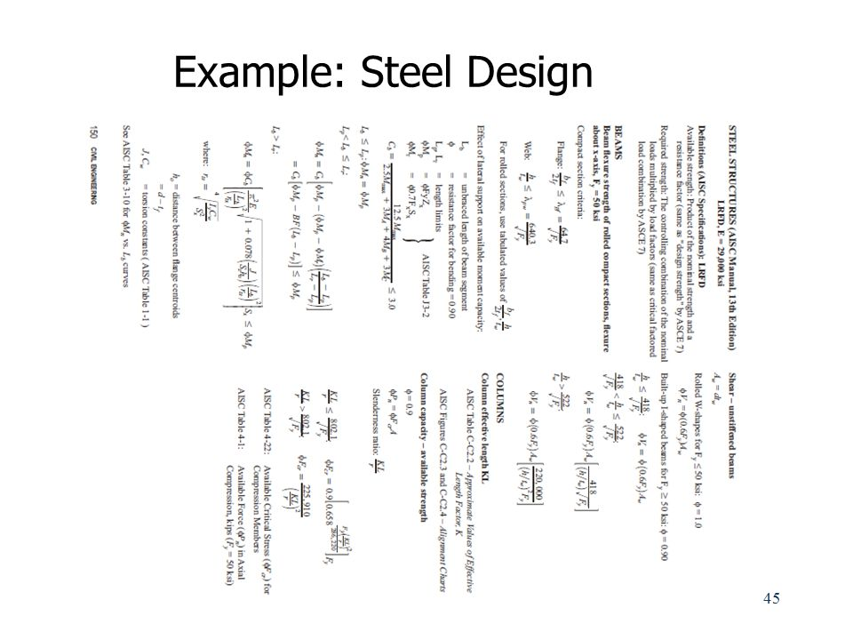 Example: Steel Design
