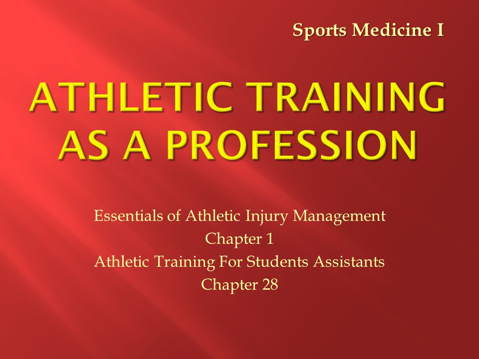 Athletic Training as a Profession