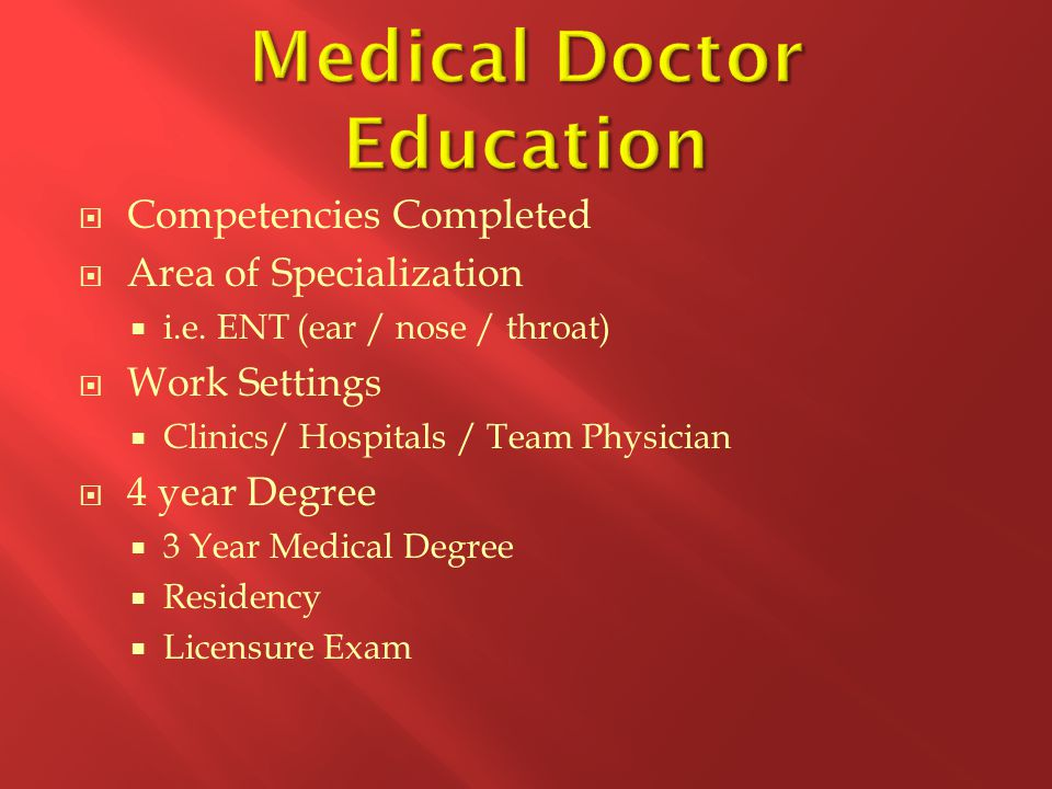 Medical Doctor Education