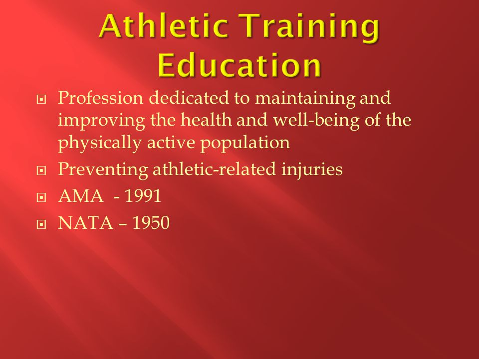Athletic Training Education