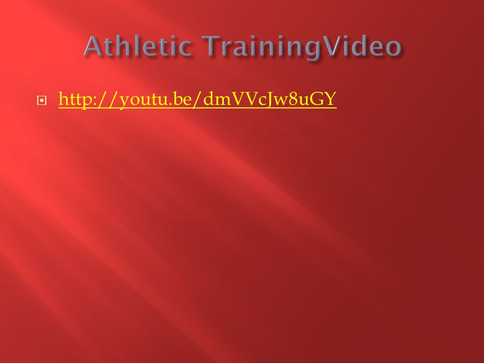 Athletic TrainingVideo