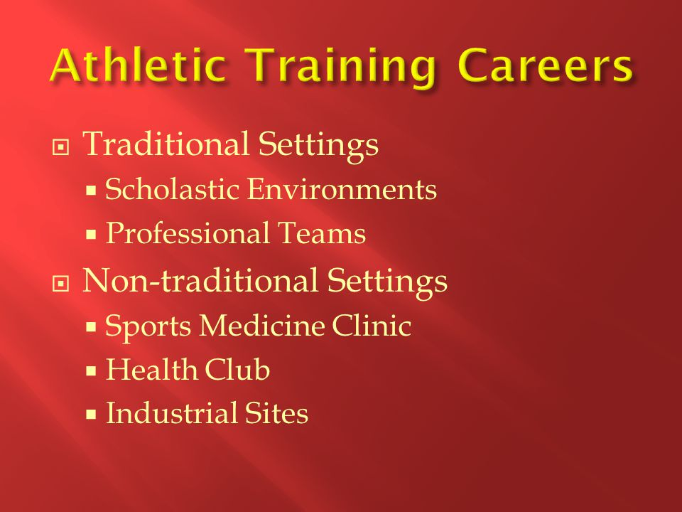 Athletic Training Careers