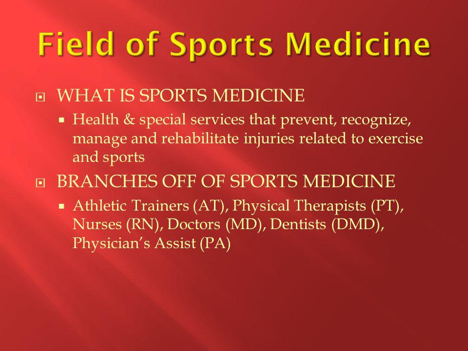 Field of Sports Medicine