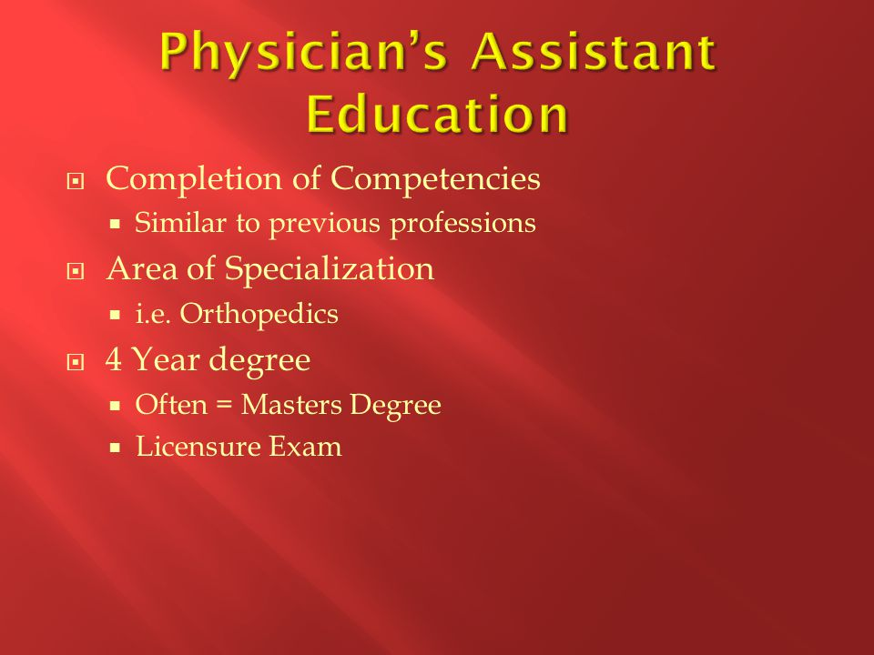Physician's Assistant Education
