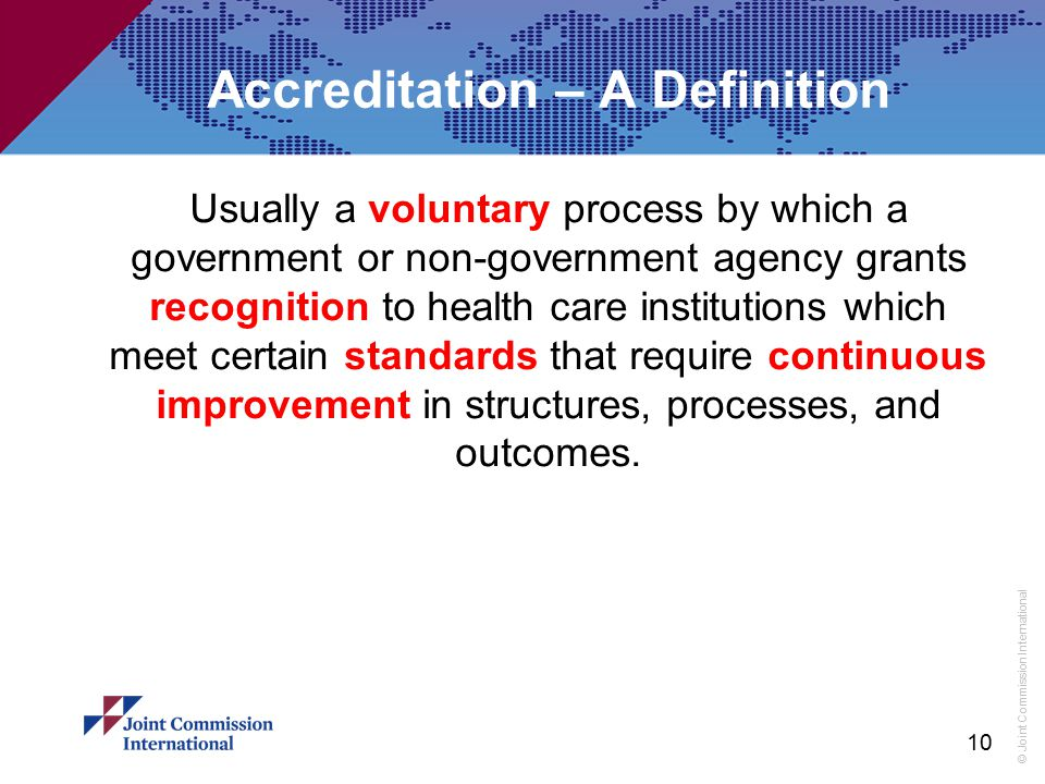 Accreditation – A Definition