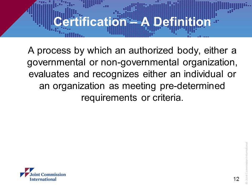 Certification – A Definition