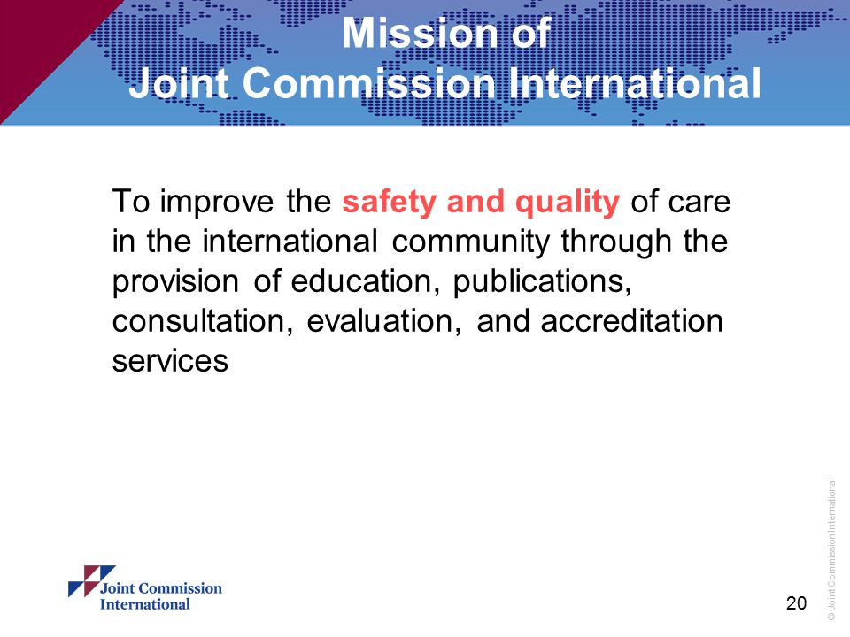 Mission of Joint Commission International