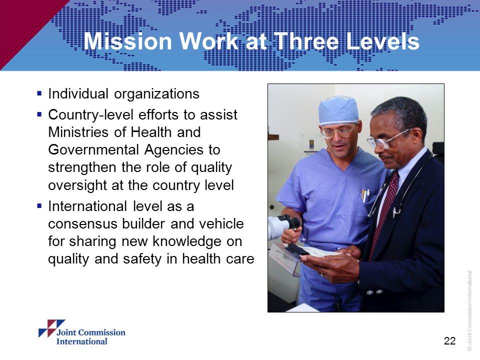Mission Work at Three Levels