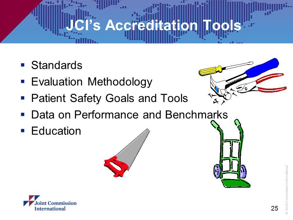 JCI's Accreditation Tools