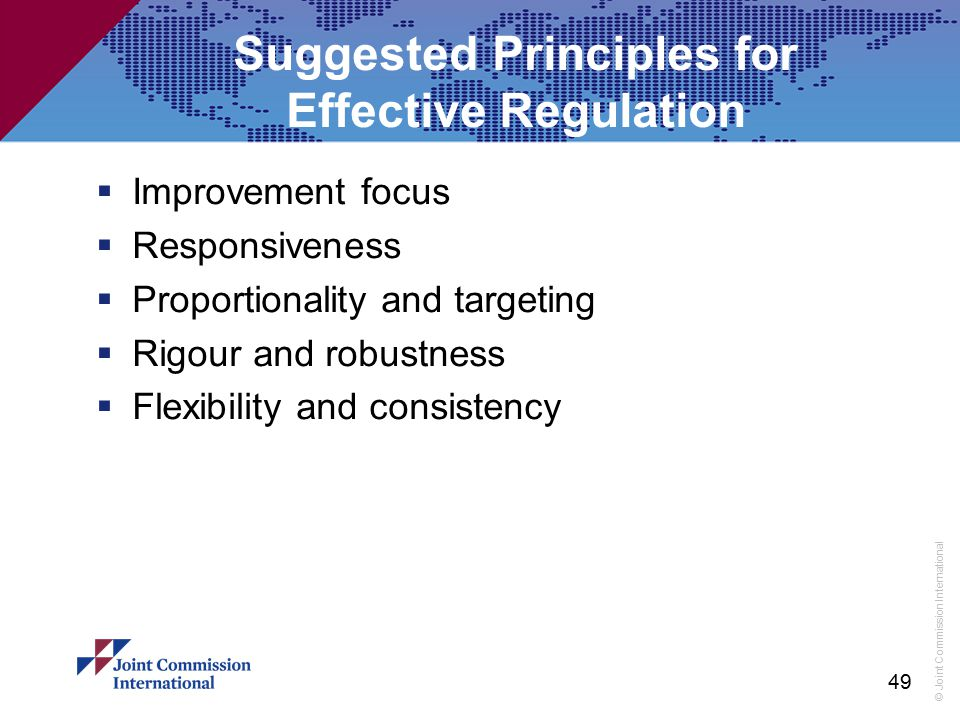 Suggested Principles for Effective Regulation