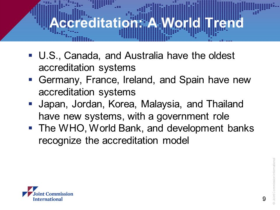 Accreditation: A World Trend