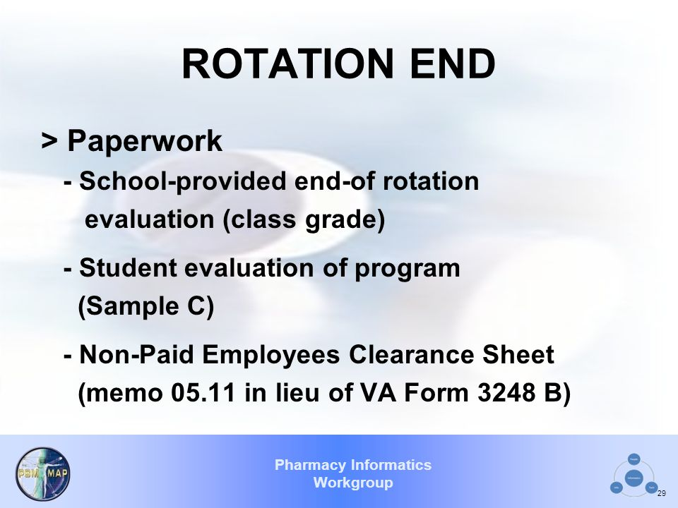 ROTATION END > Paperwork - School-provided end-of rotation
