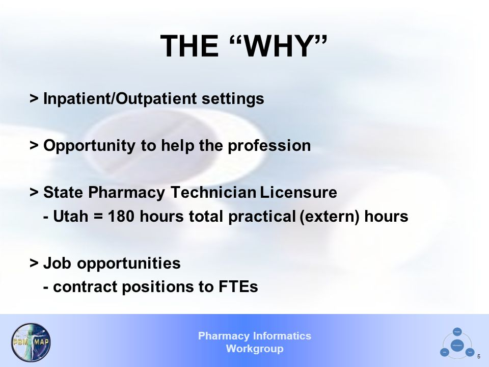THE WHY > Inpatient/Outpatient settings