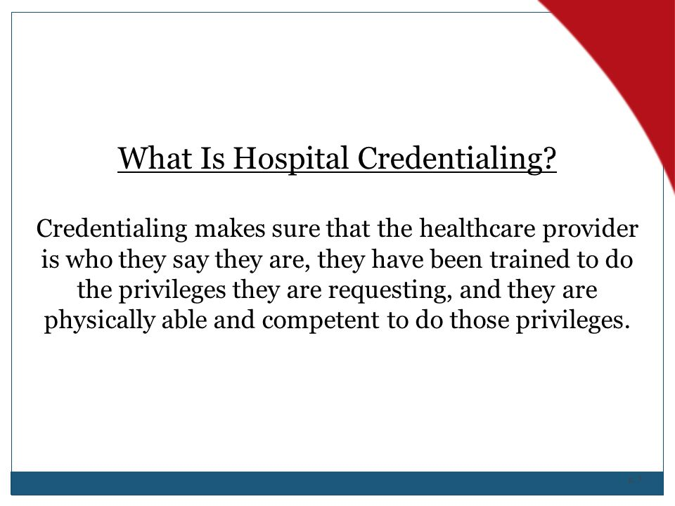 What Is Hospital Credentialing