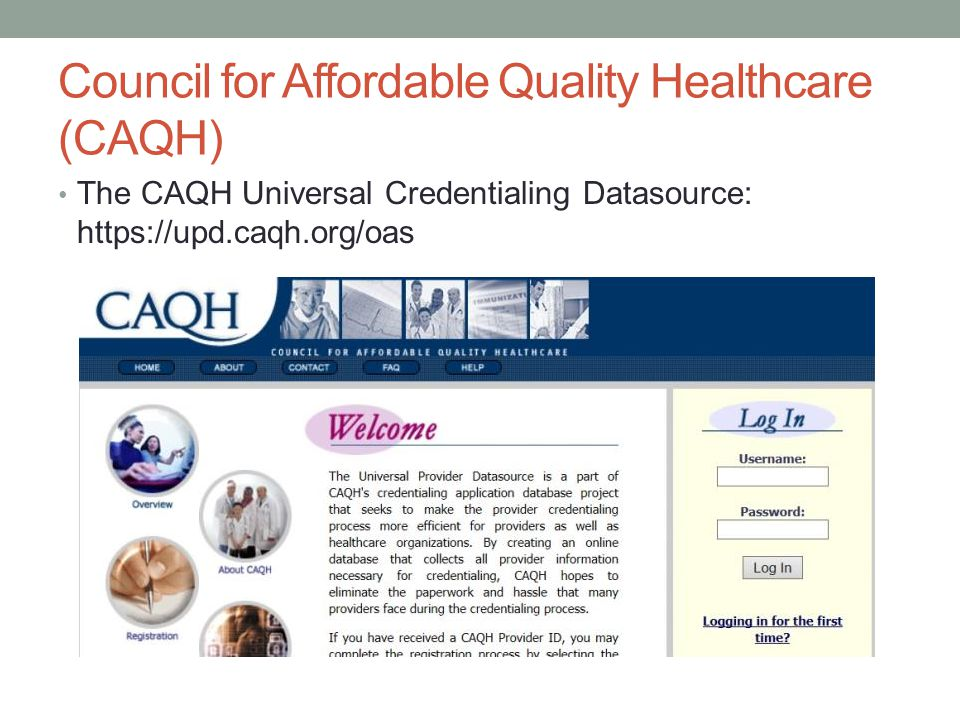 Council for Affordable Quality Healthcare (CAQH)