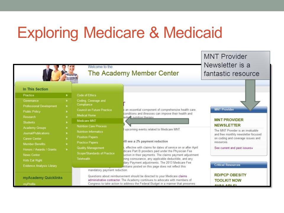 Exploring Medicare & Medicaid