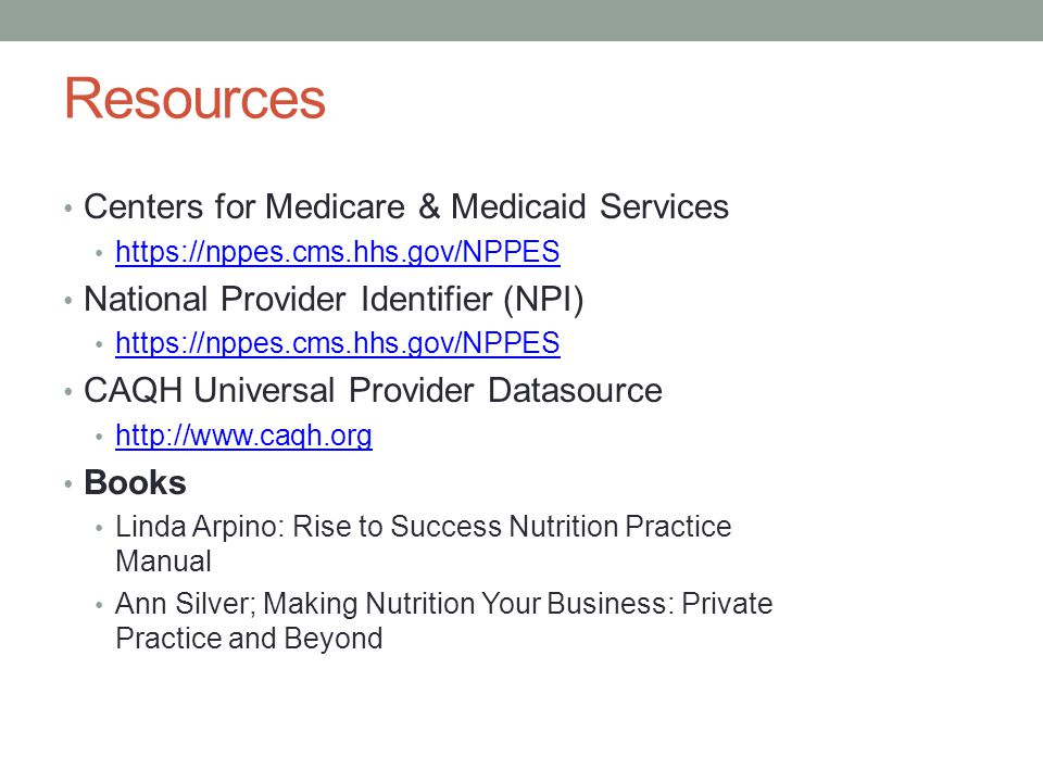 Resources Centers for Medicare & Medicaid Services