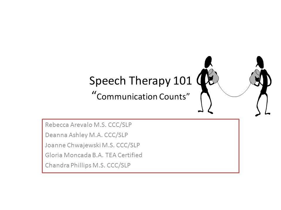 Speech Therapy 101 Communication Counts