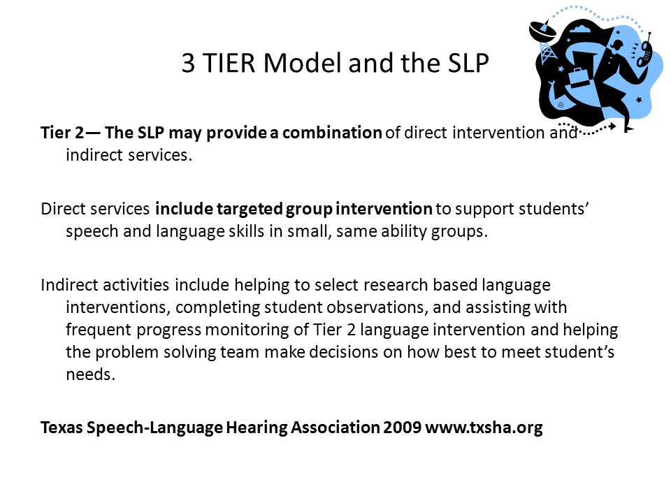 3 TIER Model and the SLP