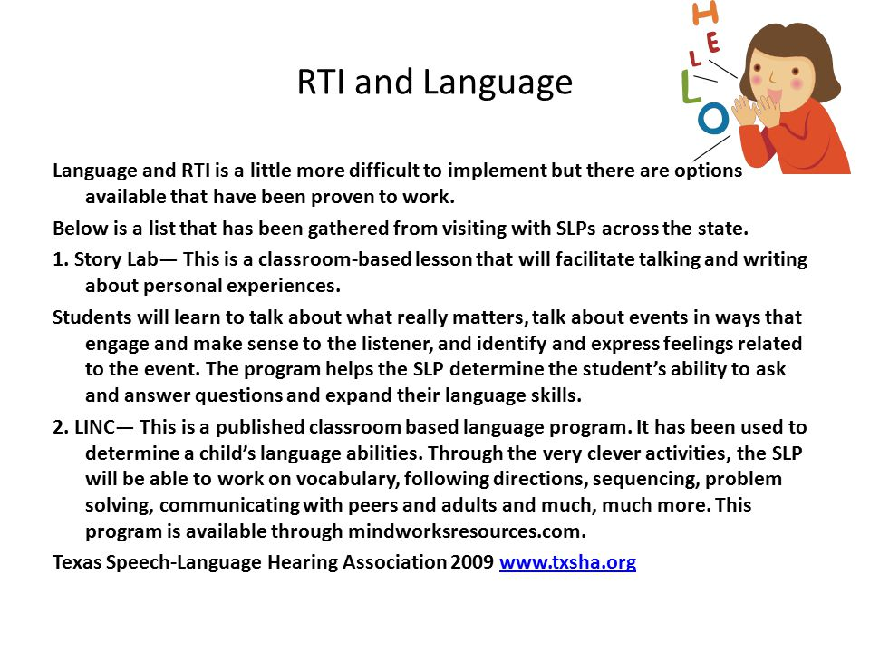 RTI and Language