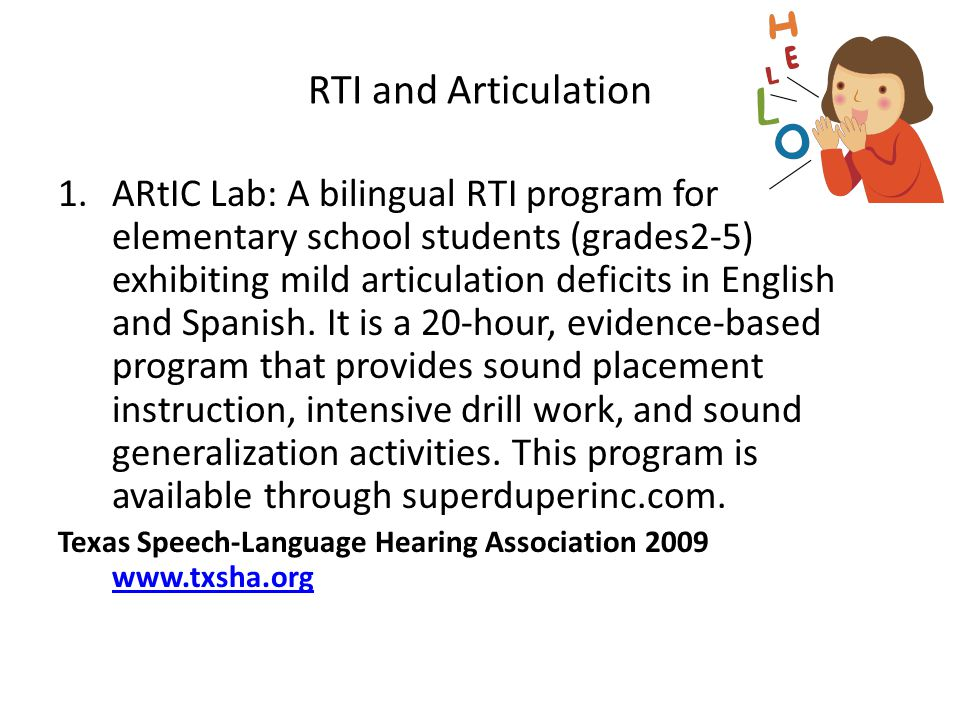 RTI and Articulation