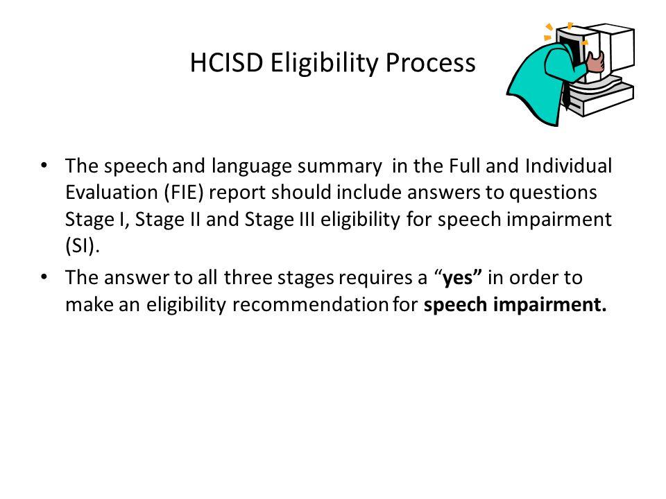 HCISD Eligibility Process