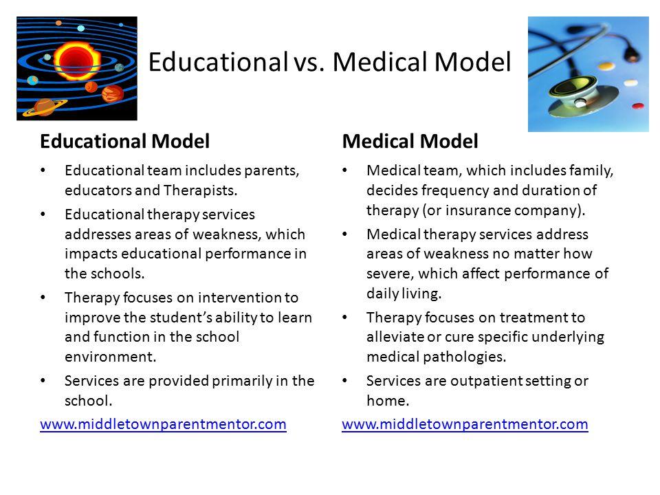 Educational vs. Medical Model