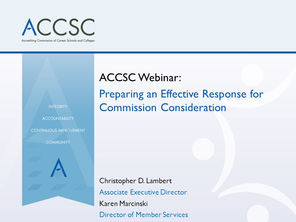 Preparing an Effective Response for Commission Consideration