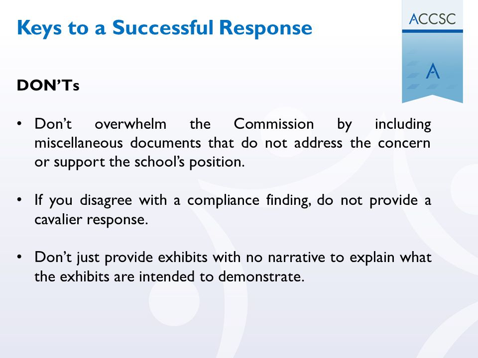 Keys to a Successful Response