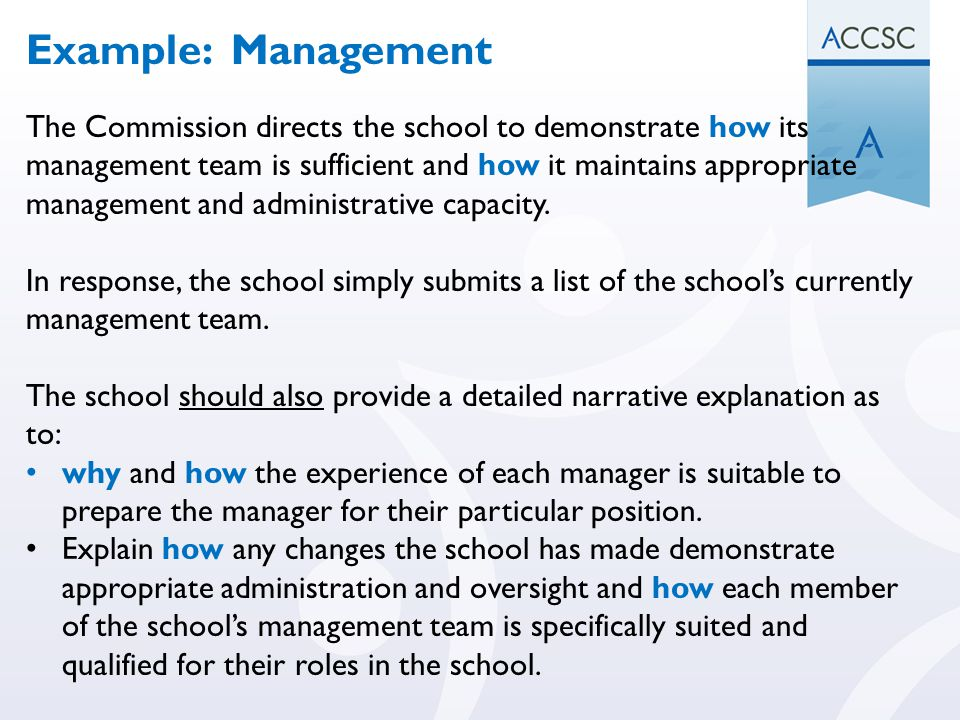 Example: Management