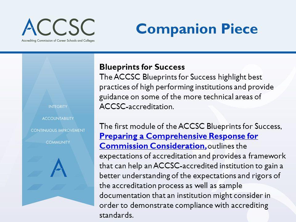 Companion Piece Blueprints for Success