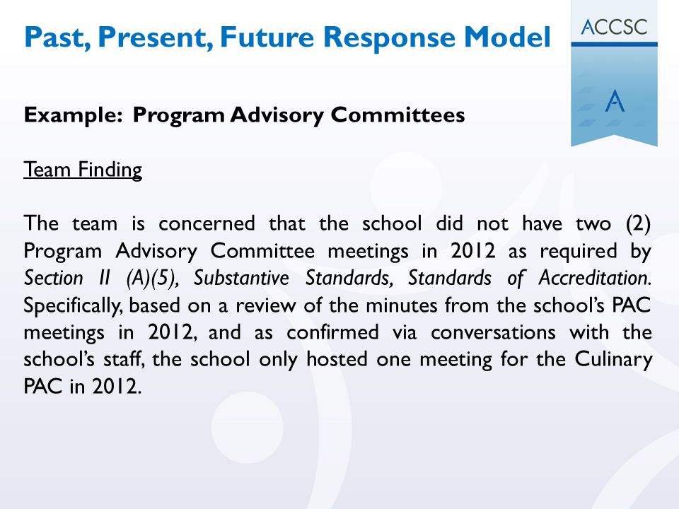 Past, Present, Future Response Model