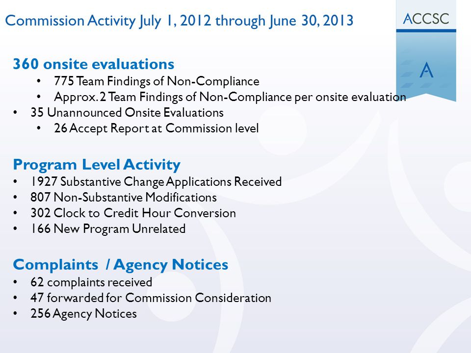 Commission Activity July 1, 2012 through June 30, 2013
