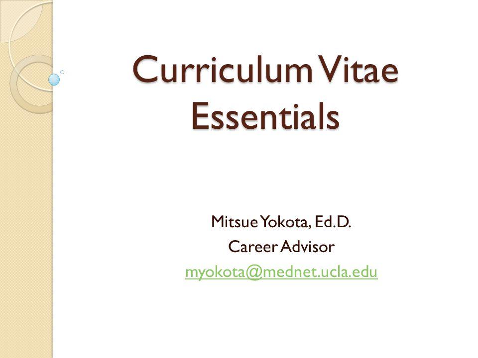 Curriculum Vitae Essentials